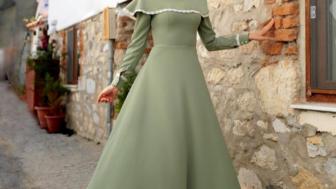 2017 Tesettürlü Bayan Elbise Modelleri