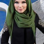 Muslima Wear Püsküllü Şal Haki