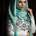 Muslima Wear Püsküllü Şal Mint