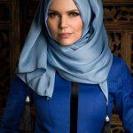 Muslima Wear Püsküllü Şal Sis Mavisi