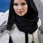 Muslima Wear Püsküllü Şal Siyah