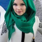 Muslima Wear Püsküllü Şal Zümrüt