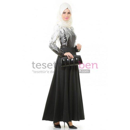 Kayra Abiye Elbise Siyah