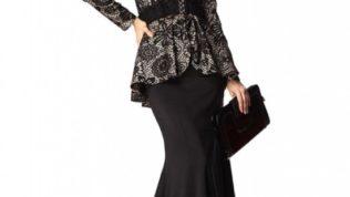Siyah Abiye Tesettür Elbise Modelleri 2017 / GALERİ
