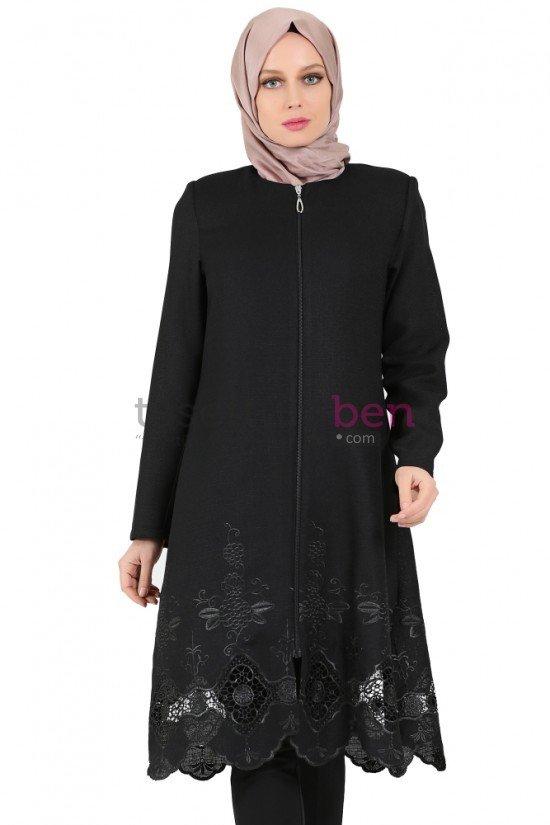 Tekbir Giyim Gülcemal Tunik Siyah