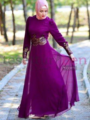 Aramiss Tesettür Abiye Elbise