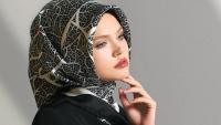 Desenli Eşarp Modelleri