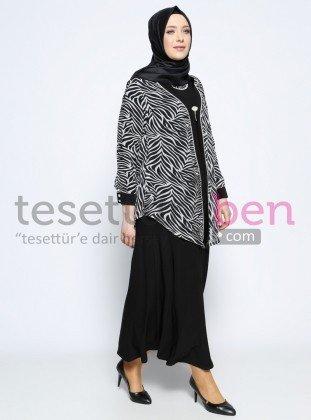 Ceket&Elbise İkili Abiye Takım - Siyah - Metex