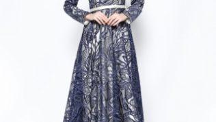 Asbella Abiye Tesettür Elbise Modelleri 2017