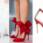 Renkli Gelin Ayakkabısı Modelleri Kırmızı
