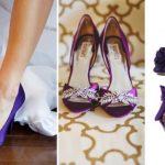 Renkli Gelin Ayakkabısı Modelleri Mor