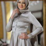 Soft Abiye Elbise Gri Gizem Kış
