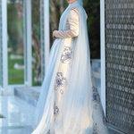 Thalia Abiye Elbise Gri Mavi Lef`zen