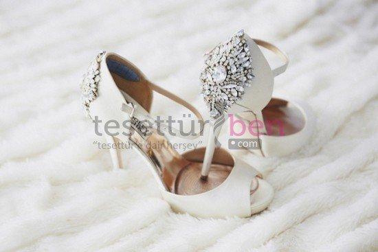Topuklu Gelin Ayakkabı Modeli