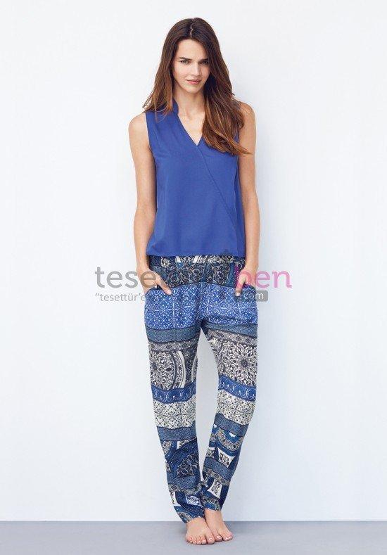 Catherines Mavi Desenli Pijama Takımı