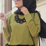 Eda Ertunç Fıstık Yeşili Yarasa Kol Bluz