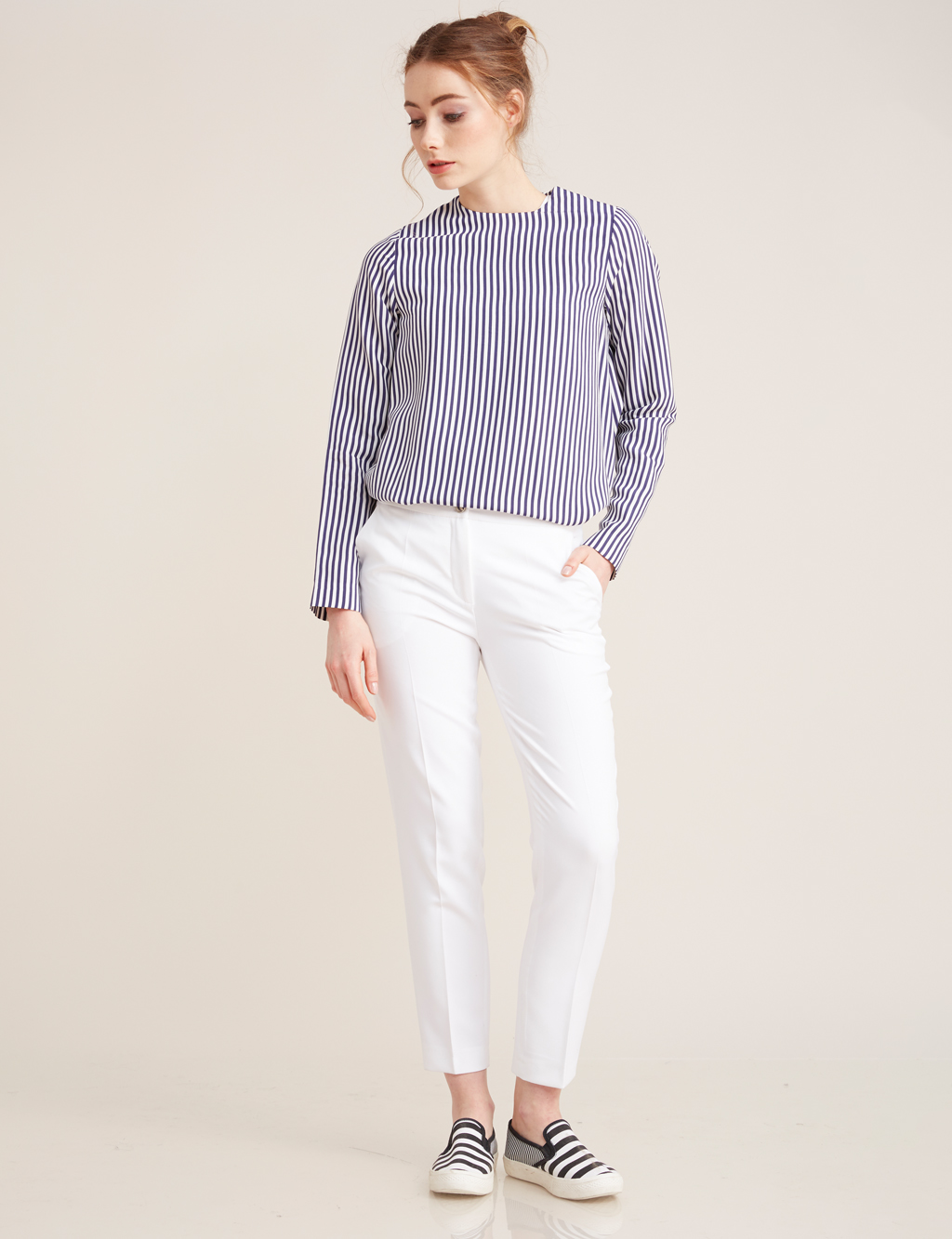 Kayra Giyim Basic Pantolon Beyaz