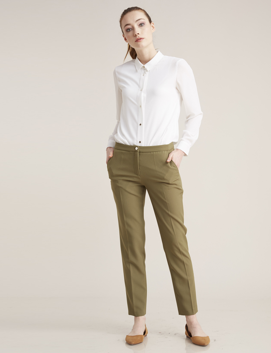 Kayra Giyim Basic Pantolon Haki