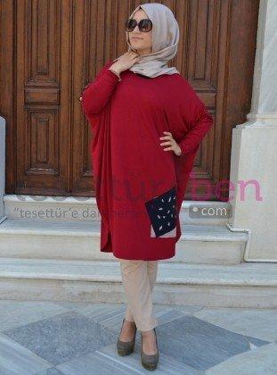 Moda Nisa Spor Tunik Kırmızı Henna Elisa
