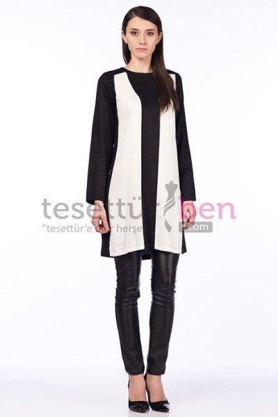 Parille Giyim Siyah Beyaz Tunik