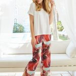 Penye Mood Kırmızı Desenli Pijama Takımı