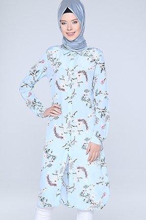 Tozlu Giyim Desenli BebeMavisi Tunik