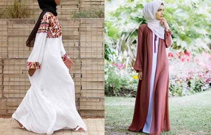 İnayah White Kaftan With Multicoloured Threadwork Kombini