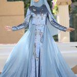 Almira Abiye Elbise Mavi Gamze Özkul