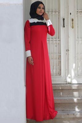 Melek Konat Kırmızı Aşya Elbise