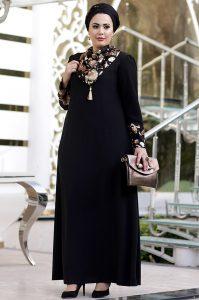 Büyük Beden Tesettür Abiye Elbise Modelleri Zarif Tesettür