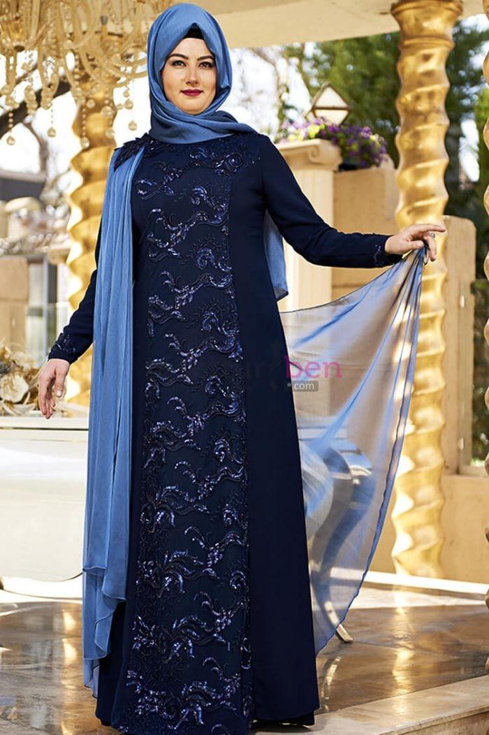 Büyük Beden Tesettür Abiye Elbise