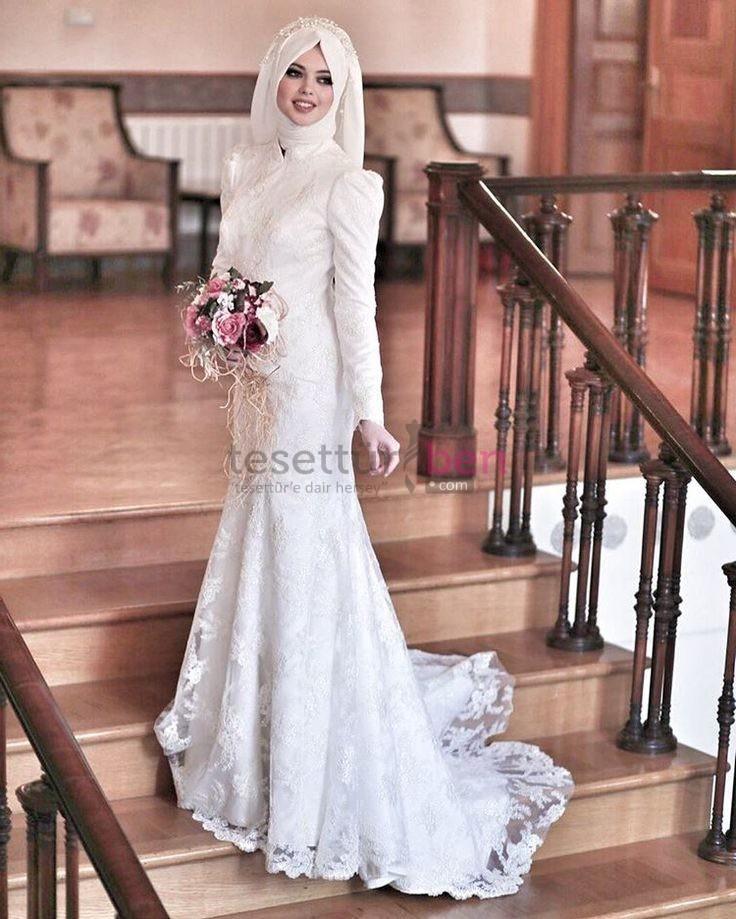 04fb0054b8e7c ... salon düğünleri için uygun iken daha romantik görünüme sahip balık  kesim tesettür gelinlikler kır düğünleri için daha ideal bir seçenek oluyor.