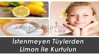 İstenmeyen Tüyler İçin Limon Kürü