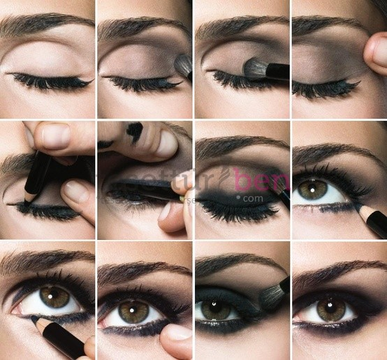 siyah dumanlı göz makyajı nasıl yapılır